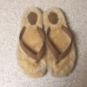 UGGS Furry Flip Flops